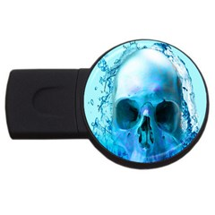 Skull In Water 4gb Usb Flash Drive (round) by icarusismartdesigns