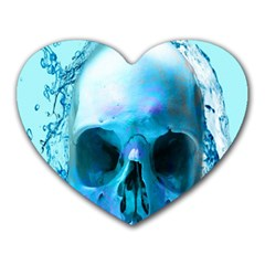 Skull In Water Mouse Pad (heart) by icarusismartdesigns