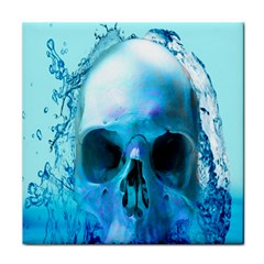 Skull In Water Face Towel by icarusismartdesigns