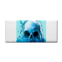 Skull In Water Hand Towel by icarusismartdesigns