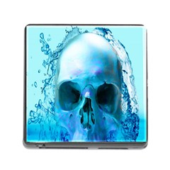 Skull In Water Memory Card Reader With Storage (square) by icarusismartdesigns