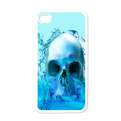 Skull In Water Apple Iphone 4 Case (white) by icarusismartdesigns