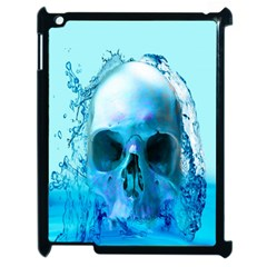 Skull In Water Apple Ipad 2 Case (black) by icarusismartdesigns