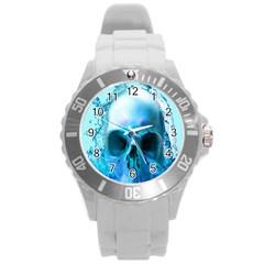 Skull In Water Plastic Sport Watch (large) by icarusismartdesigns