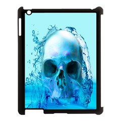 Skull In Water Apple Ipad 3/4 Case (black) by icarusismartdesigns