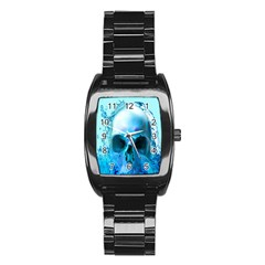 Skull In Water Stainless Steel Barrel Watch by icarusismartdesigns