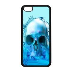 Skull In Water Apple Iphone 5c Seamless Case (black) by icarusismartdesigns