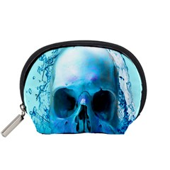 Skull In Water Accessory Pouch (small) by icarusismartdesigns