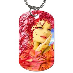 Tears Of Blood Dog Tag (one Sided) by icarusismartdesigns