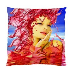 Tears Of Blood Cushion Case (single Sided)  by icarusismartdesigns