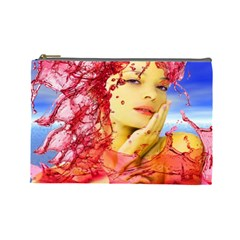 Tears Of Blood Cosmetic Bag (large) by icarusismartdesigns