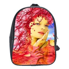 Tears Of Blood School Bag (xl) by icarusismartdesigns