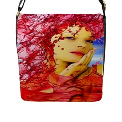 Tears Of Blood Flap Closure Messenger Bag (large) by icarusismartdesigns