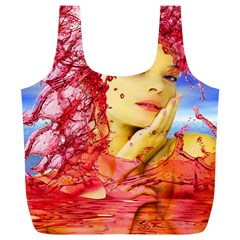 Tears Of Blood Reusable Bag (xl) by icarusismartdesigns