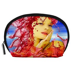Tears Of Blood Accessory Pouch (large) by icarusismartdesigns