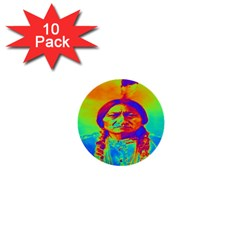 Sitting Bull 1  Mini Button (10 Pack) by icarusismartdesigns