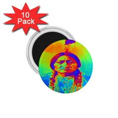 Sitting Bull 1 75  Button Magnet (10 Pack) by icarusismartdesigns