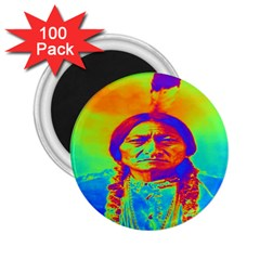 Sitting Bull 2 25  Button Magnet (100 Pack) by icarusismartdesigns