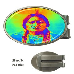 Sitting Bull Money Clip (oval) by icarusismartdesigns
