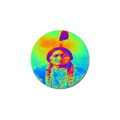 Sitting Bull Golf Ball Marker 10 Pack by icarusismartdesigns