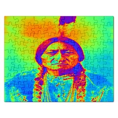 Sitting Bull Jigsaw Puzzle (rectangle) by icarusismartdesigns