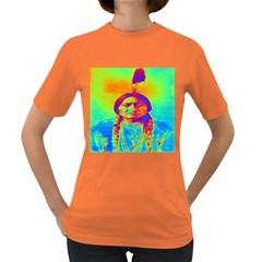 Sitting Bull Women s T Shirt (colored) by icarusismartdesigns