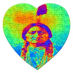Sitting Bull Jigsaw Puzzle (heart) by icarusismartdesigns