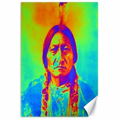 Sitting Bull Canvas 24  X 36  (unframed) by icarusismartdesigns