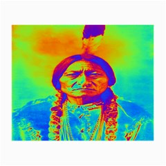 Sitting Bull Glasses Cloth (small, Two Sided) by icarusismartdesigns