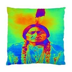 Sitting Bull Cushion Case (two Sided)  by icarusismartdesigns