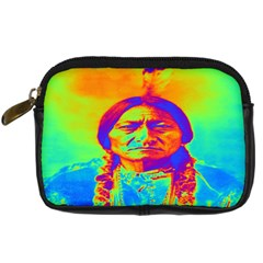 Sitting Bull Digital Camera Leather Case by icarusismartdesigns