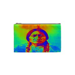 Sitting Bull Cosmetic Bag (small) by icarusismartdesigns