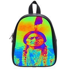 Sitting Bull School Bag (small) by icarusismartdesigns