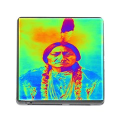 Sitting Bull Memory Card Reader With Storage (square)