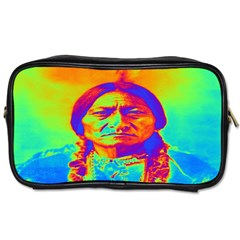 Sitting Bull Travel Toiletry Bag (one Side) by icarusismartdesigns