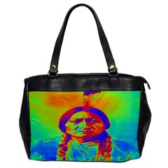 Sitting Bull Oversize Office Handbag (one Side) by icarusismartdesigns