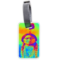Sitting Bull Luggage Tag (one Side) by icarusismartdesigns