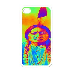 Sitting Bull Apple Iphone 4 Case (white) by icarusismartdesigns
