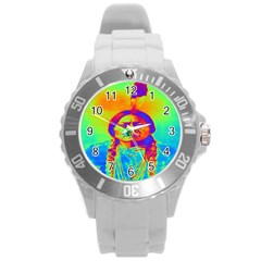 Sitting Bull Plastic Sport Watch (large) by icarusismartdesigns