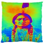 Sitting Bull Large Cushion Case (Two Sided)  Front