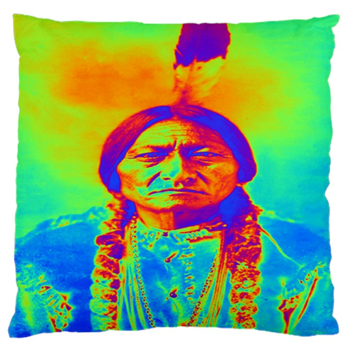 Sitting Bull Large Cushion Case (Two Sided)