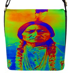 Sitting Bull Flap Closure Messenger Bag (small) by icarusismartdesigns