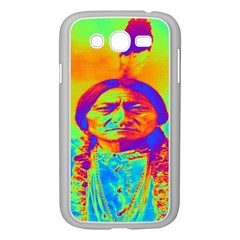 Sitting Bull Samsung Galaxy Grand Duos I9082 Case (white) by icarusismartdesigns