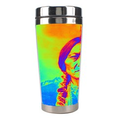 Sitting Bull Stainless Steel Travel Tumbler by icarusismartdesigns