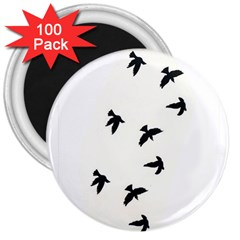 Waterproof Temporary Tattoo      Three Birds 3  Button Magnet (100 Pack) by zaasim