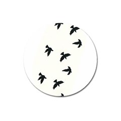 Waterproof Temporary Tattoo      Three Birds Magnet 3  (round) by zaasim
