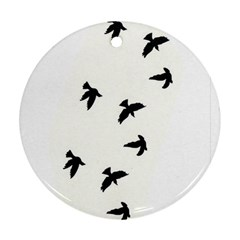 Waterproof Temporary Tattoo      Three Birds Round Ornament (two Sides) by zaasim