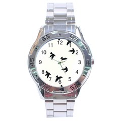 Waterproof Temporary Tattoo      Three Birds Stainless Steel Watch by zaasim