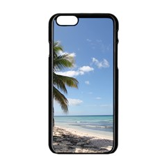 Isla Saona Caribbean Paradise Beach Apple Iphone 6 Black Enamel Case by stineshop