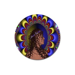 New Romantic Magnet 3  (round) by icarusismartdesigns